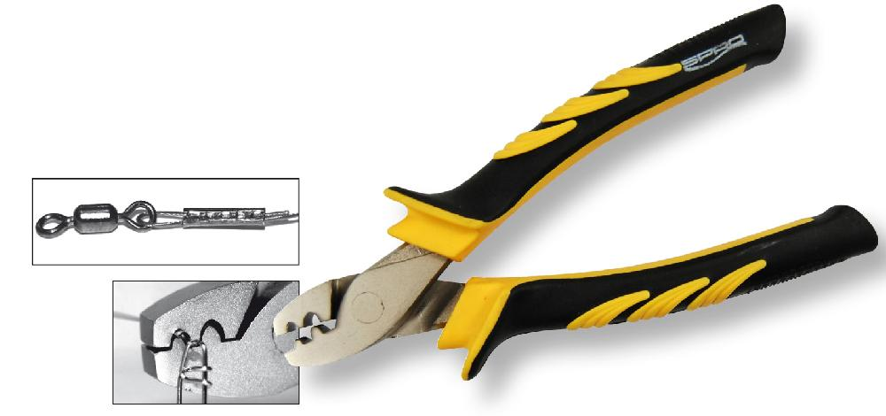 Spro crimping pliers 14cm tools bobco fishing tackle leeds for Fishing crimping tool