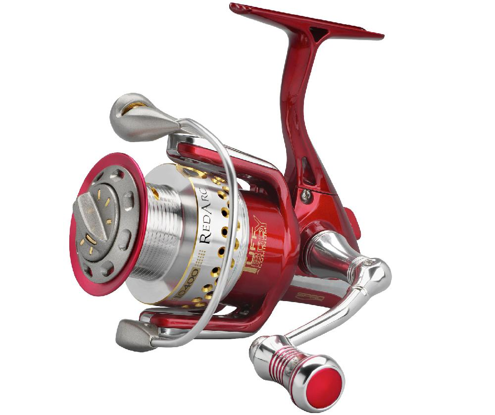 spro red arc tuff body reel front drag