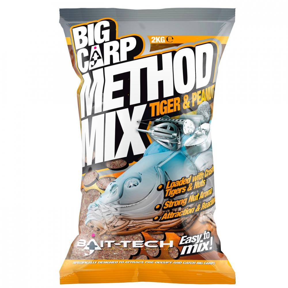 Bait Tech Carp Method Mix Tiger & Peanut 2kg
