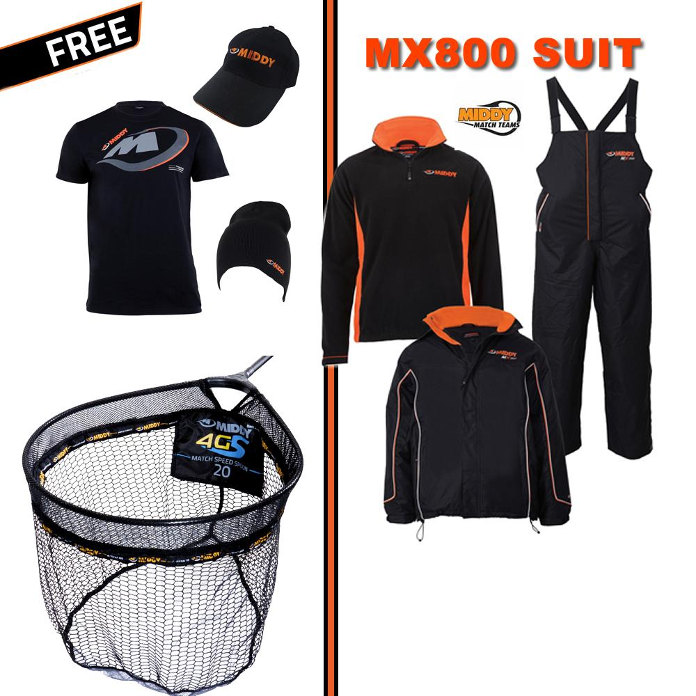 Middy MX800 Clothing Set PLUS Free Carp Spoon Net