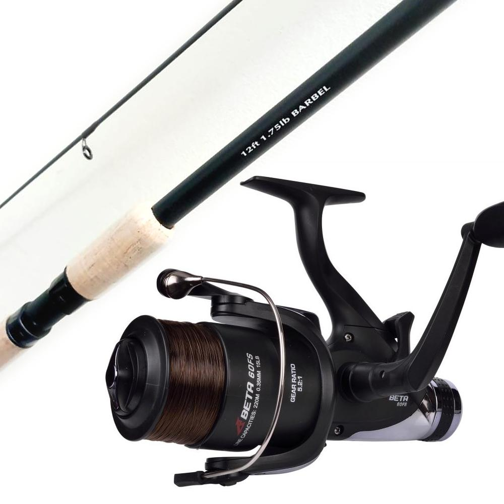 Korum Barbel Rod 1.75lb 12ft PLUS Shakespeare Beta Freespool Reel - 60