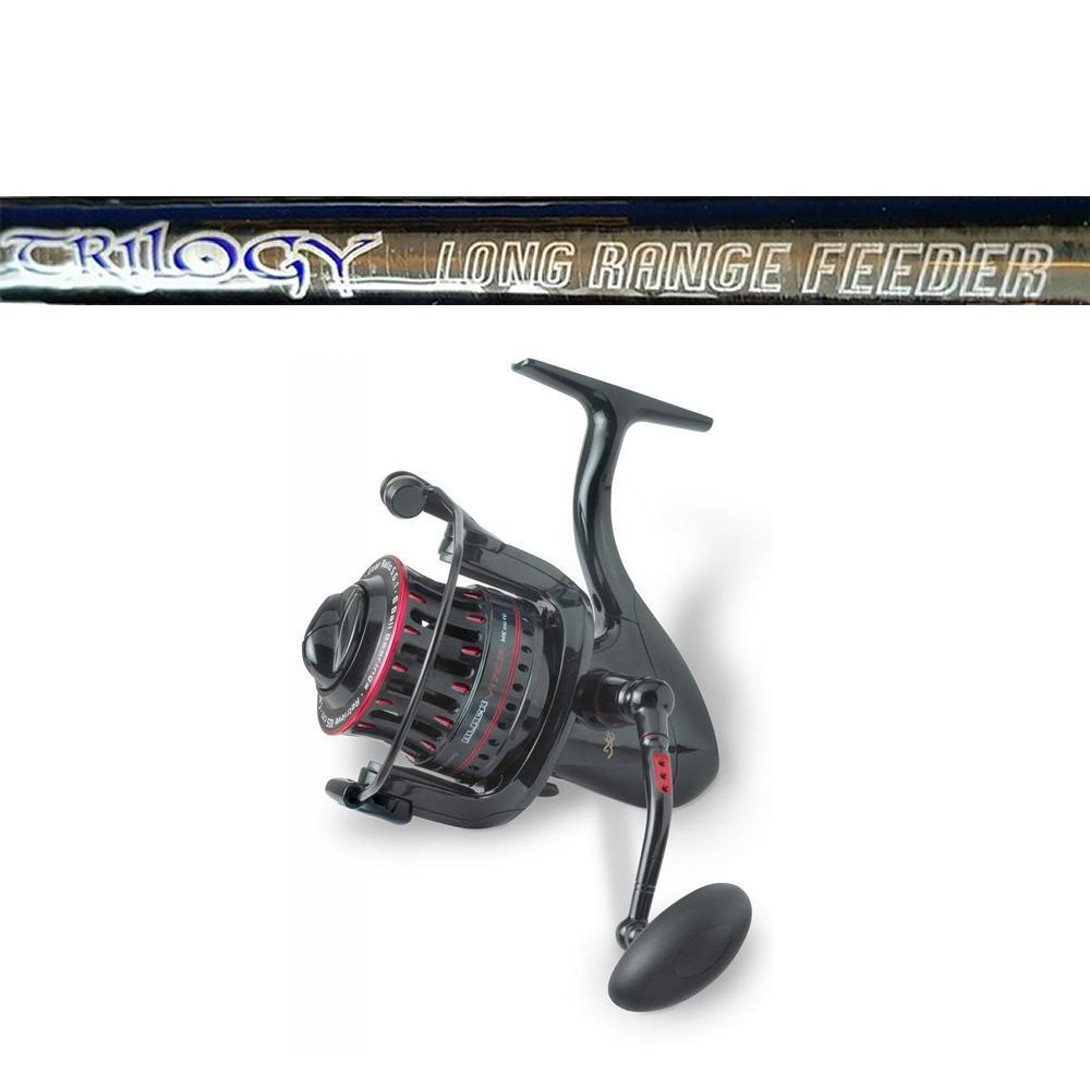 Tricast Trilogy Long Range Feeder Rod 14ft - 200g PLUS Browning Black Viper 850 Reel