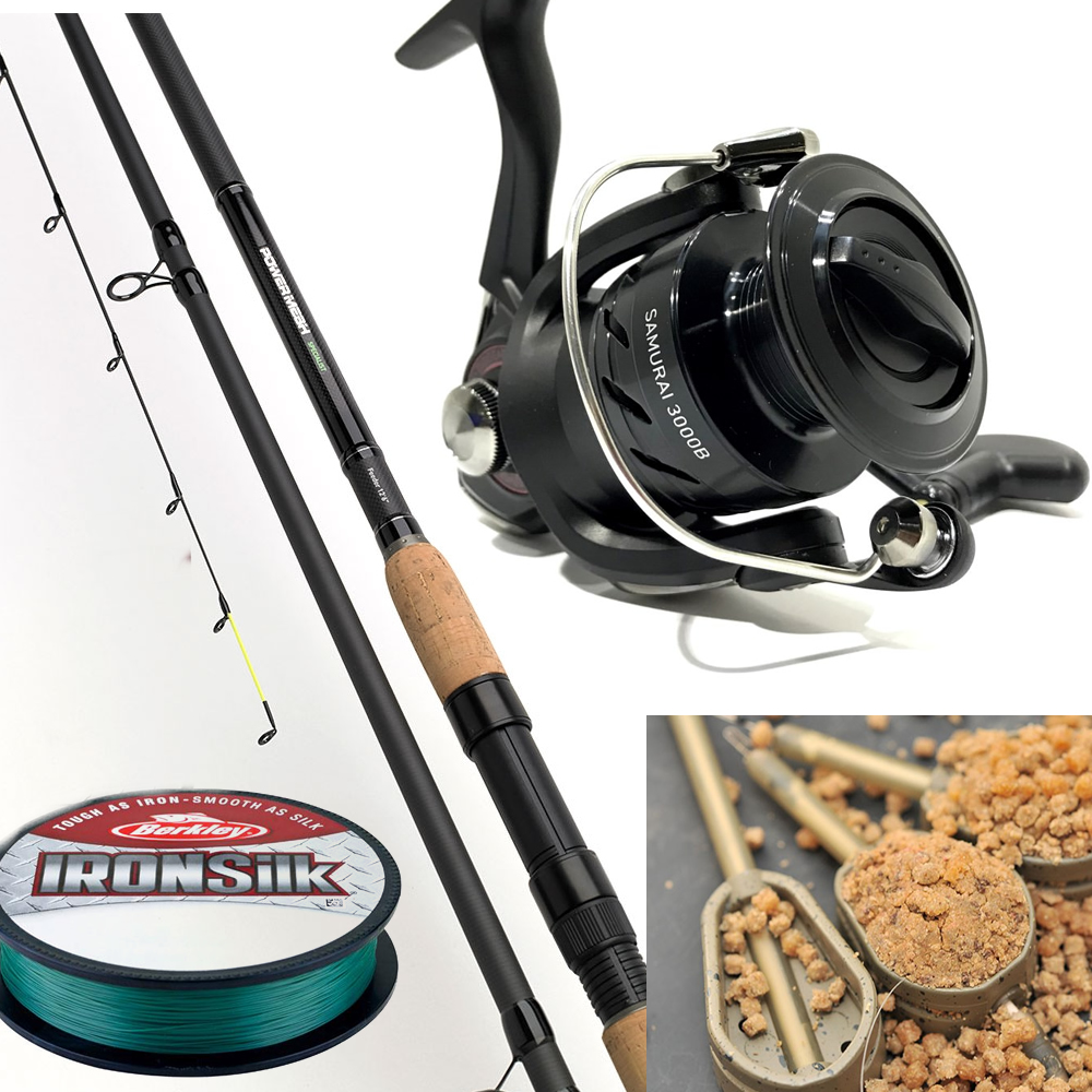 Daiwa Powermesh 11ft6 Feeder Rod PLUS Samurai Reel PLUS Feeders & Line rrp £181.97