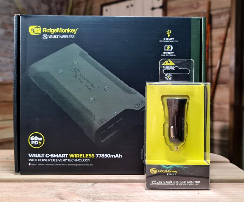 Ridge Monkey Vault C-Smart Wireless 77850mAh PLUS FREE Car Charger