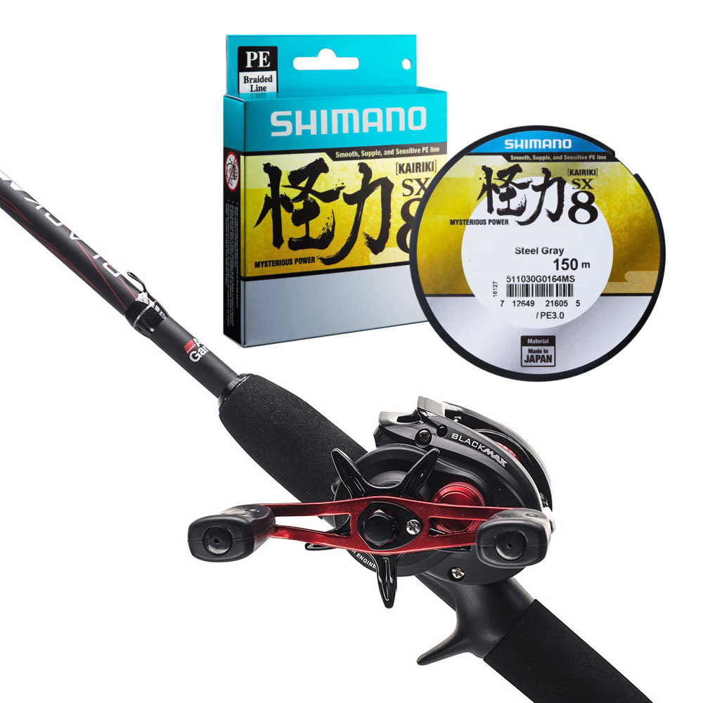 Abu Garcia Black Max Jerk Bait Rod and Reel Combo & FREE Shimano Braid