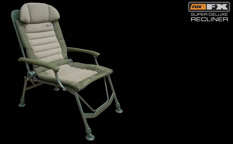 Surprising Details About Fox Fx Super Deluxe Recliner Fishing Chair Machost Co Dining Chair Design Ideas Machostcouk