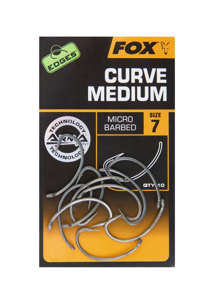 Fox Edges Curve Shank Medium Hooks