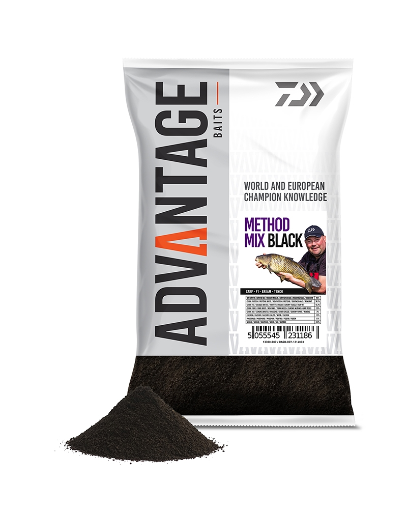 Daiwa Advantage Method Mix Black Groundbait
