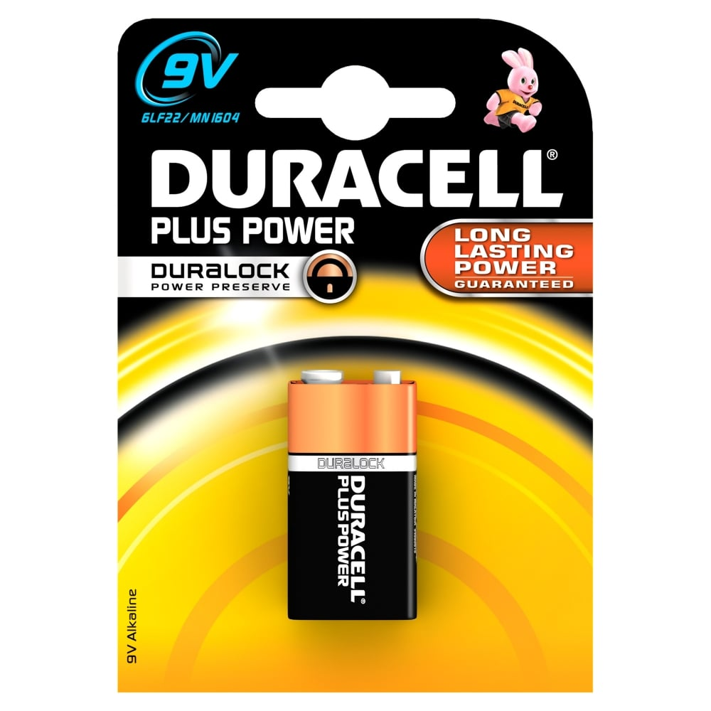 Duracell Plus Power 9V PP3 Battery