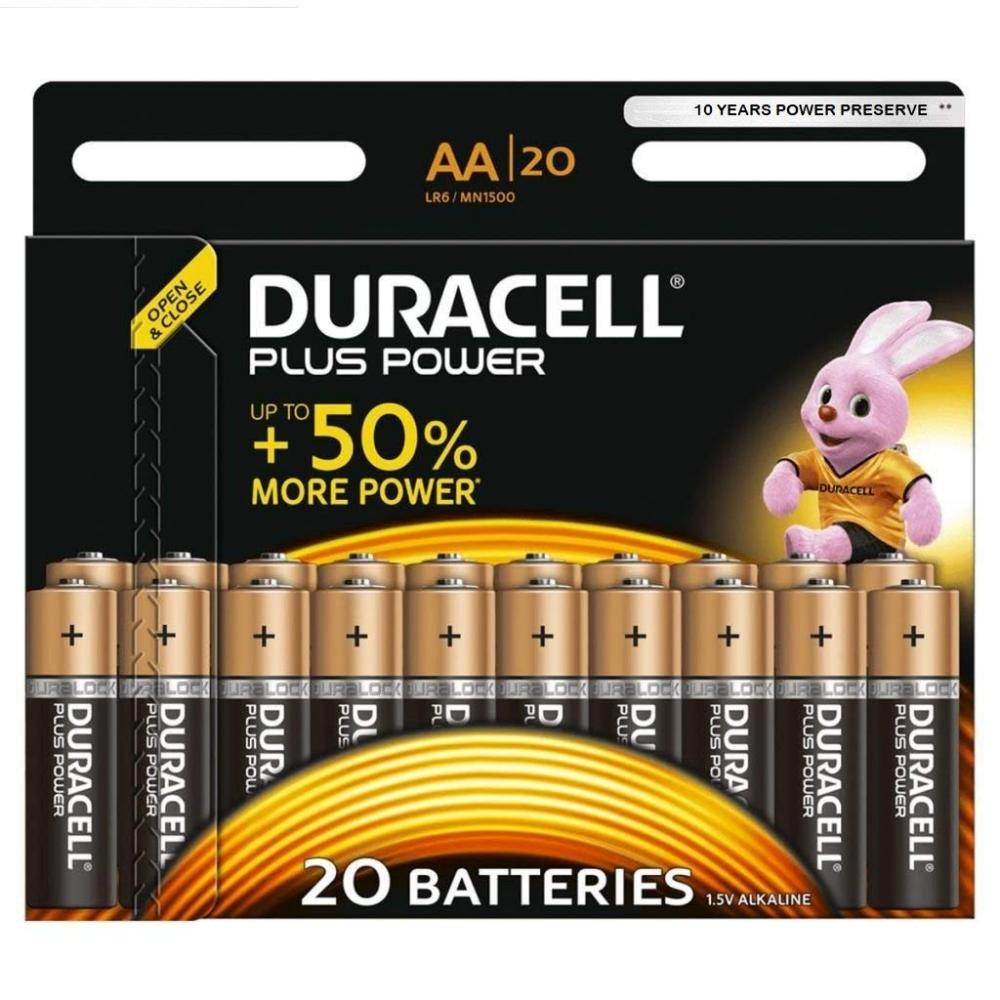 Duracell Plus Power AA - 20 Pack