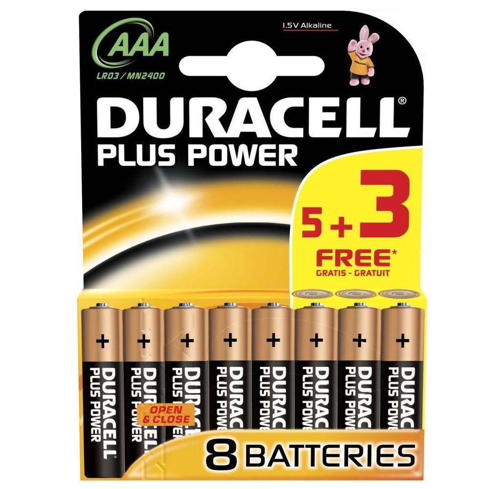 Duracell Plus Power AAA - 8 Pack