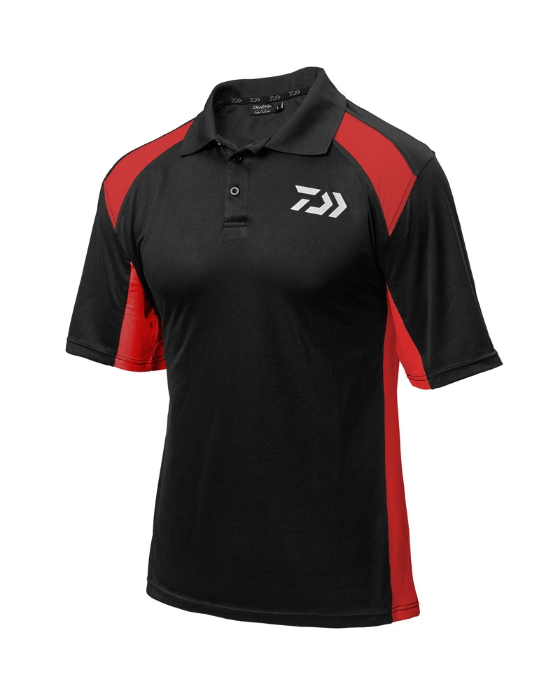 Daiwa Black & Red Polo