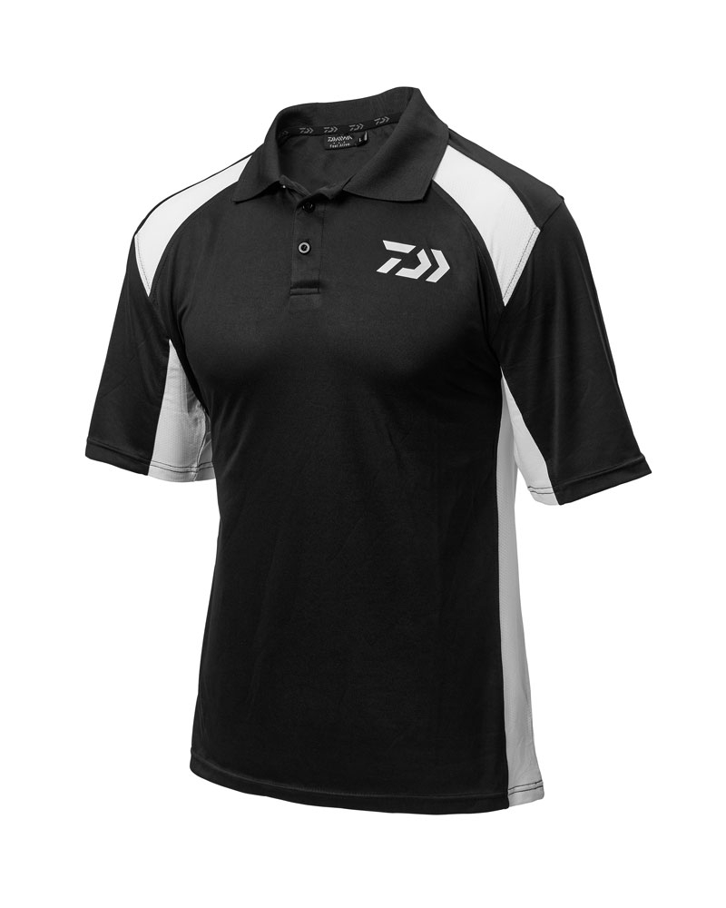 Daiwa Black & White Polo