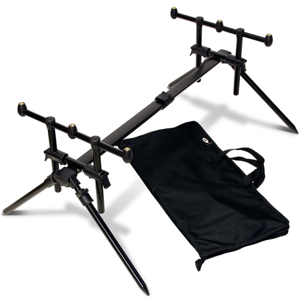 NGT Quickfish Adjustable 3 Rod Pod & Carry Case