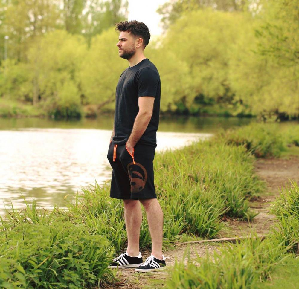 Guru Black Jersey Shorts
