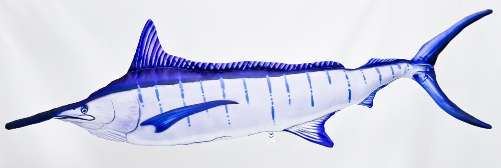 Gaby Blue Marlin Pillow