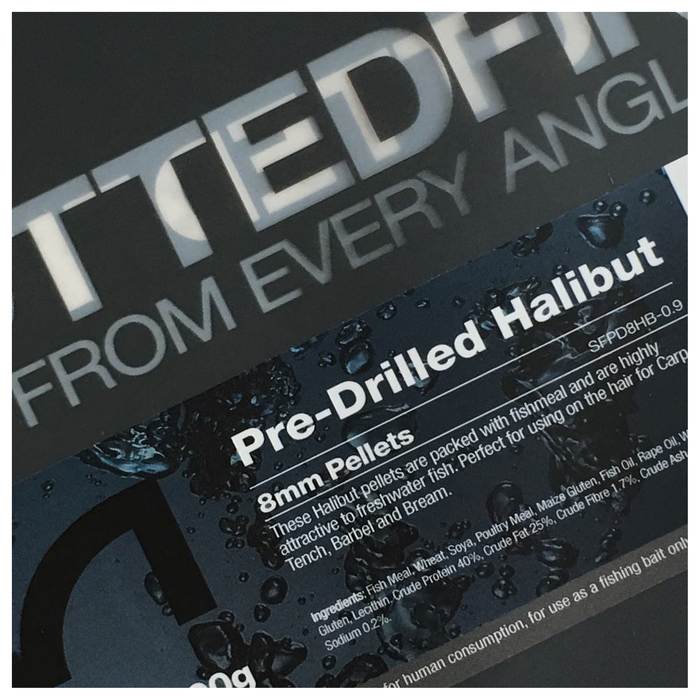 Spotted Fin Pre Drilled Halibut Pellet 900g