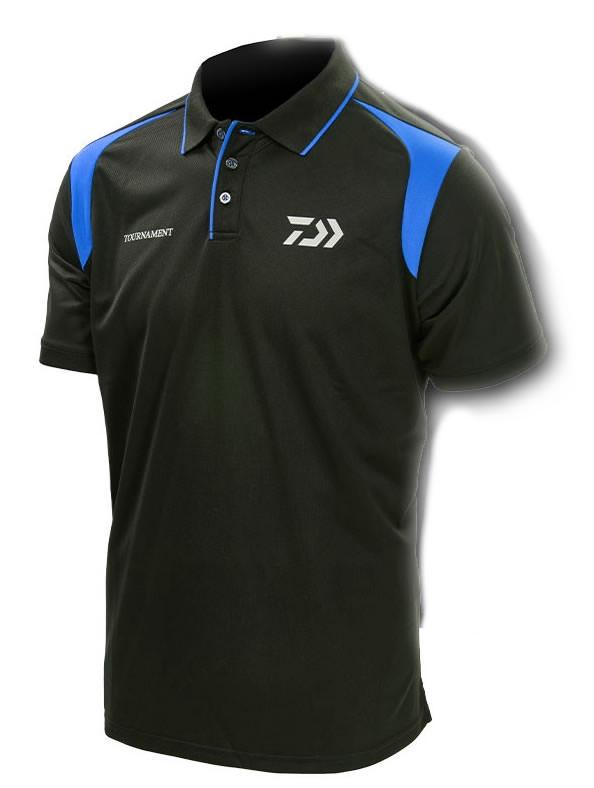 Daiwa Tournament Black & Blue Polo Shirt