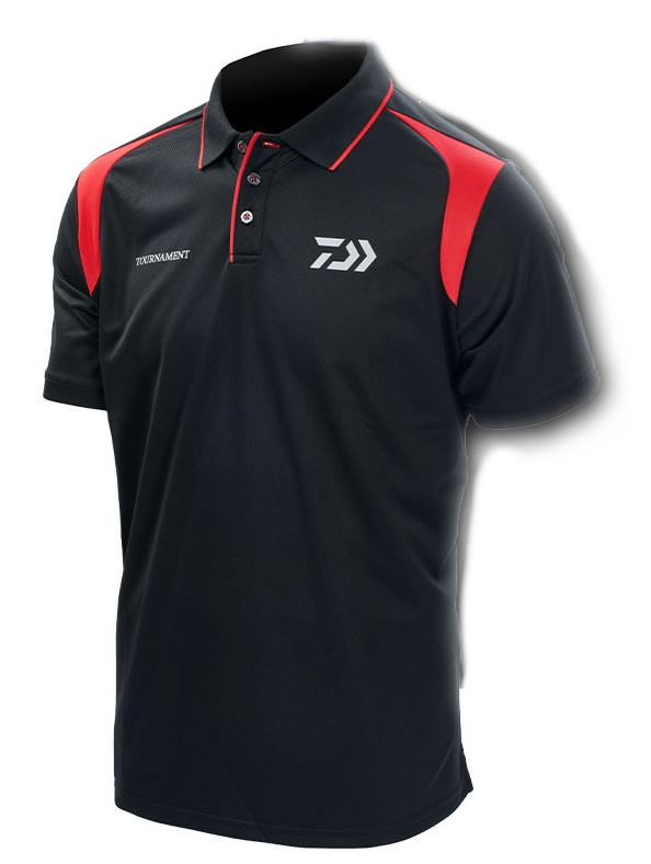 Daiwa Tournament Black & Red Polo Shirt