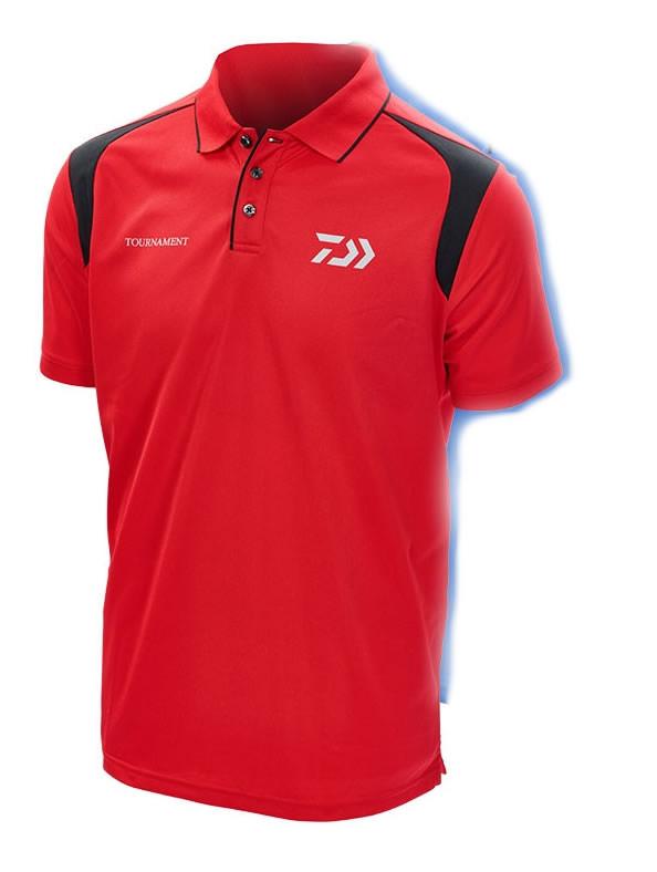 Daiwa Tournament Red & Black Polo Shirt