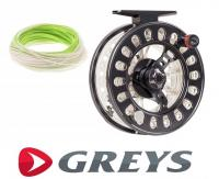 Greys QRS Cassette Reel 9-10 & 11-12 Plus Scierra WF9 Line