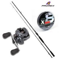 Prorex XR Baitcasting Rod 7ft6 PLUS Shimano Casitas Reel PLUS Fox Braid